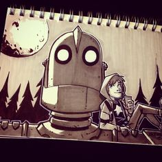 Inktober Day 16 : Iron Giant by DerekLaufman