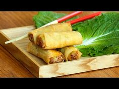 380 - Vegetarian spring rolls / لفات الخضر - Cooking with Alia Japanese Spring Roll Recipe, Vegetarian Stuffing, Vegetarian Spring Rolls, Tasty Bites, Sweet And Spicy, How To Cook Chicken, Appetizers, Cooking Recipes, Yummy Food
