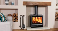 Wood Burning Stoves: Live Greener by Burning Cleaner Inset Stoves, Wood Fuel, Multi Fuel Stove, Stove Fireplace, Living Room With Fireplace, Interior Design Living Room, Kitchen Interior, Wood Burning, Contemporary Design