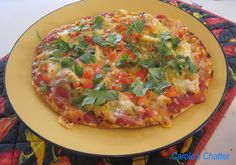 A delicious pizza made from leftover roast chicken on a flat bread base. Chicken Leftovers, Leftover Chicken Recipes, Leftover Pizza, Pizza Ingredients, Sweet Chilli Sauce, How To Make Pizza, White Meat, Vegetable Pizza, Italian Recipes