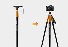 Trinity ($TBA) is a two-in-one hiking cane and tripod which is composed of a detachable handle and a pole that can be separated into three extendable legs. If you want to travel the easy way and don't want to carry a heavy tripod with you, than this might be an interesting alternative. Just pull out the legs whenever you want to take a picture