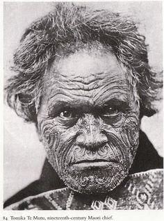 Photo John Hillelson Agency.  Tomika Te Mutu, 19th century Maori chief
