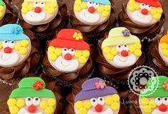 Cupcakes de palhaço, cupcakes de circo