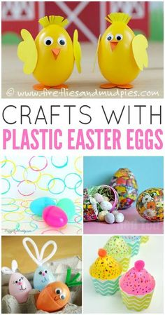 Looking for some fun and cute crafts with plastic Easter eggs? These kid-friendly crafts are fun way to put your old plastic Easter eggs to good use.