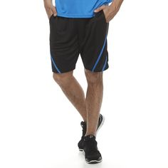 Men's Tek Gear® Slasher Shorts, Size: Medium, Black