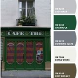 This week I'm in Paris and I've been inspired by the color-rich doors and facades of the city. Saturated blues, greens, and reds, plus the more muted salmon, have all caught my eye, making me want to take some of the colors home with me as souvenirs. A French blue hallway? Yes, please. Kelly green kitchen? Sure!