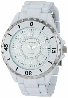 Vernier Women's VNR11028 Round Shiny Bracelet Fashion Watch Vernier. $19.99. Altogether classy, women's large timepiece is a must-have for any collection. This watch features arabic numerals for a classy and rich finish ; Watch arrives in a Vernier gift box complete with a 5 year manufacturer warranty. Water-resistant to 33 feet (10 M). Sporty yet understated colorful watch. Icon Fashion women's wristwatch by Vernier is all about stand-out style. Save 69% Off!