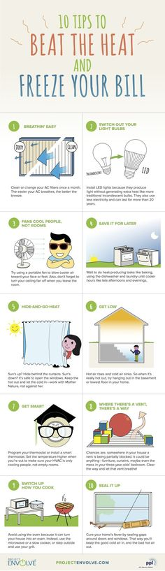 10 Tips to Beat the Heat and Freeze your Energy Bill