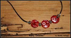 Ruby Daisies - necklace