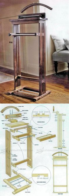 Suit Valet Stand Plans - Woodworking Plans and Projects | WoodArchivist.com