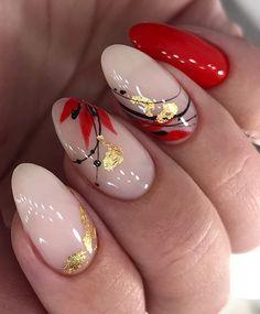 Nail Art Designs, Acrylic Nail Designs, Cute Nails, Pretty Nails, Ongles Or Rose, Jolie Nail Art, Feather Nails, May Nails, Almond Acrylic Nails
