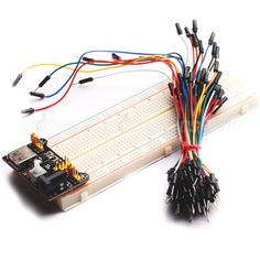 MB102 830 Point Solderless Breadboard PCB +Power Supply+65pcs Jumper Cable Wires for Arduino Raspberry Pi