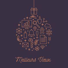 Boule de Noël graphique Christmas Artwork, Christmas Poster, Christmas Mood, Christmas Design, Business Holiday Cards, Holiday Greeting Cards, Xmas Cards, Illustration Noel, Christmas Illustration