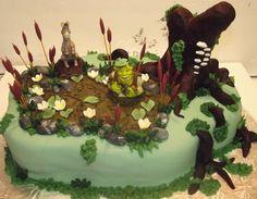 Image result for shrek swamp cake