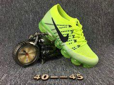 2017-2018 Sale Big Discount Nike Air Vapormax Mens Green Black Sneakers Sneakers Nike, Black Sneakers, Sneakers Fashion