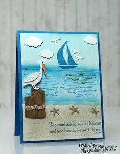 ~Nautical Scene + Brayer & Sponging~