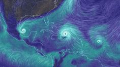 Three Atlantic hurricanes may hit land on the same day this weekend