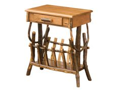 www.foothillsamishfurniture.com -- End Table/ Magazine Rack with Oval Top --This Rustic end table with built in magazine rack was hand-crafted for your living room. -- Do you read a lot of magazines? Repin if so!
