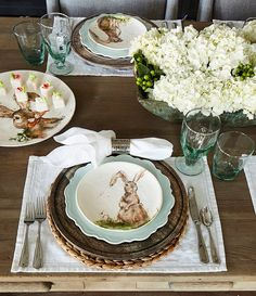 Tap image to zoom Southern Living Spring Collection Round Woven Water Hyacinth Placemat Easter Table Settings, Easter Table Decorations, Easter Decor, Easter Crafts, Thanksgiving Decorations, Brunch Table Setting, Easter Centerpiece, Bunny Crafts, Thanksgiving Table