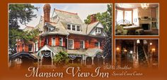 Mansion View Inn  Indoor/Outdoor Ceremony Reception  Accommodates -Up to 200