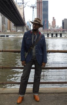 Akubra Fed IV Haversack jacket RRL jacket MFSC Trade shirt Kapital  Dexter boots Forestbound bag