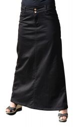 Maxi Skirt Denim Black Long skirt Shop; maxi skirts, maxi dresses : Women Islamic Clothing, Abaya, Hijab, Swimsuits, Long Skirt 39,99$