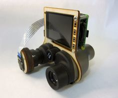 Strap a Raspberry Pi 2 + Camera to a pair of binoculars (or telescope, microscope, etc.) and use one of adafruit's touch LCDs + custom raspbian image to view and take pictures. (Scroll through the photos above for examples / comparisons)This project takes more time, money and is clunkier than if you were to purchase a commercial product. You're probably not on instructables because you wanted to buy a solution ; ) There are two sets of instructions here! See the images and video above for a…