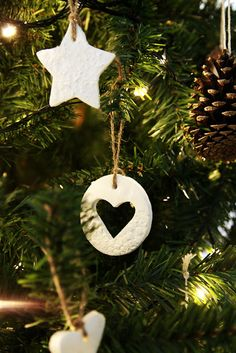 The Whimsical Wife: Oh Christmas Tree... White Dough Christmas Decorations