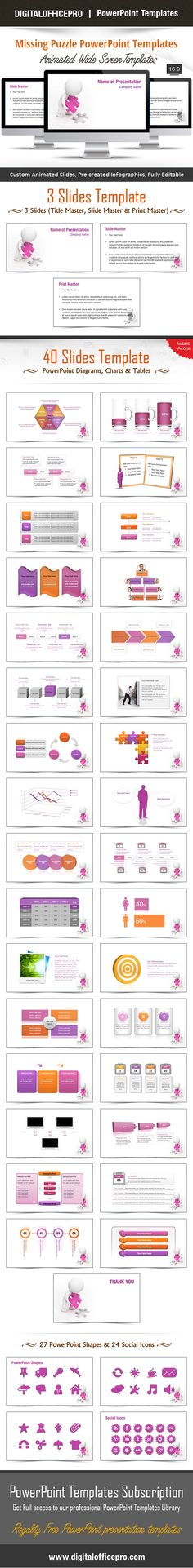 Impress and Engage your audience with Missing Puzzle PowerPoint Template and Missing Puzzle PowerPoint Backgrounds from DigitalOfficePro. Each template comes with a set of PowerPoint Diagrams, Charts & Shapes and are available for instant download.