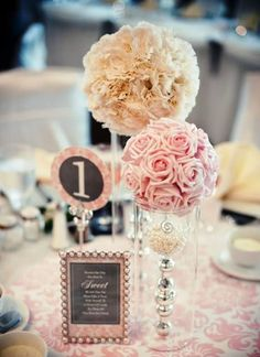 Easy DIY Quinceanera Centerpieces Don't need to be crafty, it's all about creativity! Brace yourself for five DIY Quinceanera centerpieces that are affordable, fast and easy to create! Wedding Events, Wedding Reception, Our Wedding, Dream Wedding, Wedding Blog, Wedding Tables, Buffet Wedding, Wedding Country, Reception Ideas