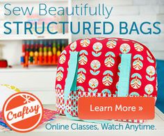 Craftsy class by Sara Lawson about bag interfacing and other bag-making tips to make your bags look professional!