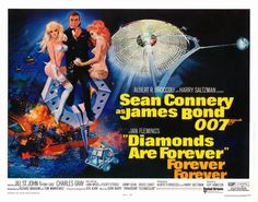 Poster for DIAMONDS ARE FOREVER (1971).