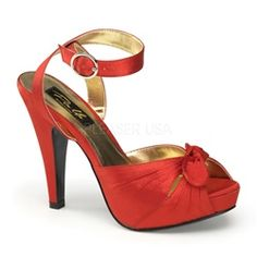 $74 Pin Up Shoes! Red Vintage Style Pin Up Shoes!