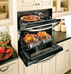 Wall ovens at eye level. No more bending over to get things in and out. #aginginplace