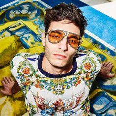"e6e17598e0 Dolce & Gabbana on Instagram: ""See life through orange coloured lenses.  Pair them with a #DGMaiolica t-shirt. Link in bio. #DGEyewear #DGMen"""