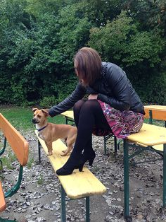 Zapata Rock mit Hundebesuch