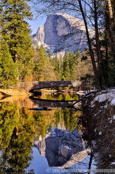 Sentinel by jlindhardt........ Sentinel Bridge over the Merced River, Yosemite National Park, California.