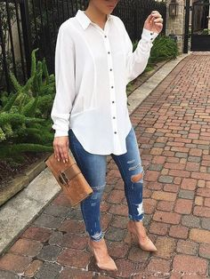 Womens Fashion Autumn Fall Looks Jeans 53 Ideas For 2019 Casual Work Outfits, Mode Outfits, Classy Outfits, Stylish Outfits, Fashion Outfits, Womens Fashion, Jeans Casual, Fashion Boots, Fashion Trends