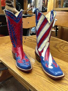 Red, white & blue Rios of Mercedes cowboy boots
