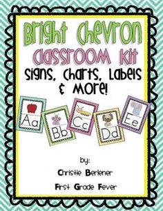 Bright Chevron Classroom Kit