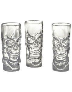 clear skull shot glasses