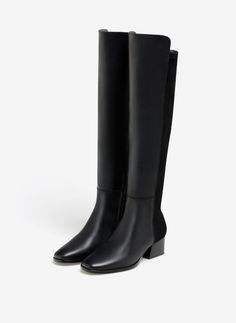 Contrast boots