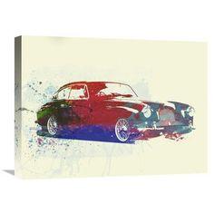 Naxart 'Aston Martin DB 2' Painting Print on Wrapped Canvas Size: