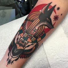 What does anubis tattoo mean? We have anubis tattoo ideas, designs, symbolism and we explain the meaning behind the tattoo. Anubis Tattoo, Bastet Tattoo, Nefertiti Tattoo, Horus Tattoo, Anubis Symbol, Hand Tattoos, Fatima Hand Tattoo, Body Art Tattoos, Tattoo Designs And Meanings
