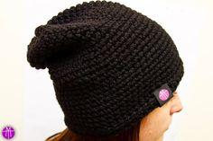 MAMTWORY: Szydełkowa czarna czapka http://mamtwory.pl