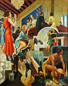 1930 ... History Of Water WPA | Thomas Hart Benton.