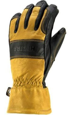 Hestra Men's Guide Glove, Natural Brown/Black, X-Large by Hestra. $92.99. A traditional mountaineering glove that just gets better with age. This is a hard-wearing glove made entirely of leather with a removable wool terry cloth/wool pile lining.