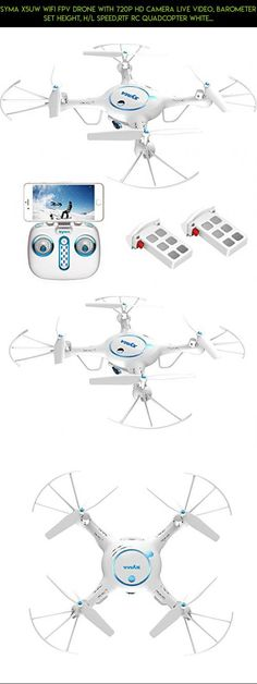 Syma X5UW Wifi FPV Drone with 720P HD Camera Live Video, Barometer Set Height, H/L Speed,RTF RC Quadcopter White + Bonus Battery #kit #racing #syma #parts #products #camera #camera #plans #drone #shopping #tech #drone #technology #fpv #gadgets