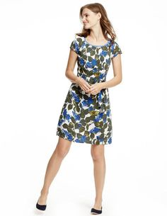 Easy Day Dress WH779 Day Dresses at Boden - Love the longer skirt and neckline. Casual for work and summer