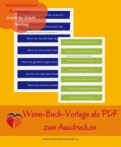 ausdruckbare Vorlagen für das Wenn-Buch #wennbuch #basteln #selbstgemacht #geschenk